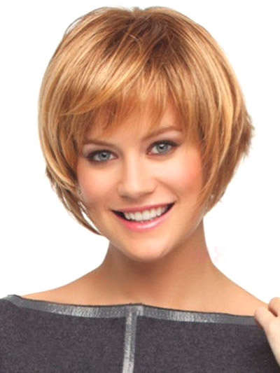 Fashion Light Brown Bobs Heat-resistant Fiber Woman's Short Wig фото