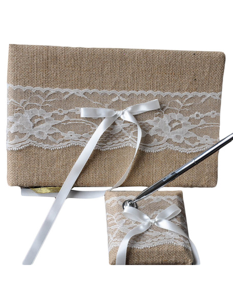 Classic & Lovely Wedding Guest Book and Pens