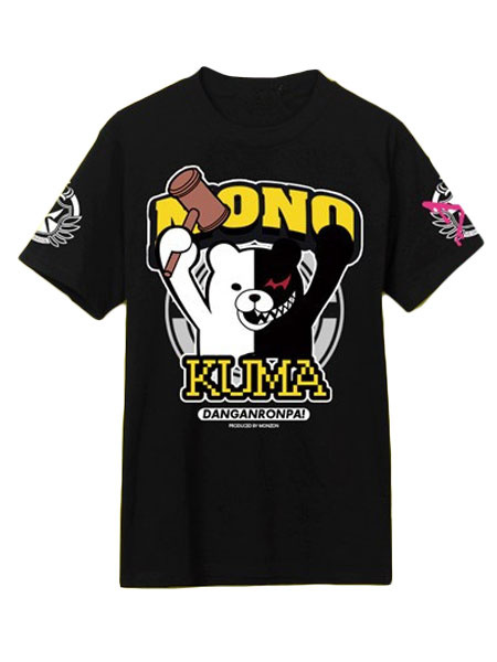 Black MONOKUMA Quality Anime T-Shirts фото