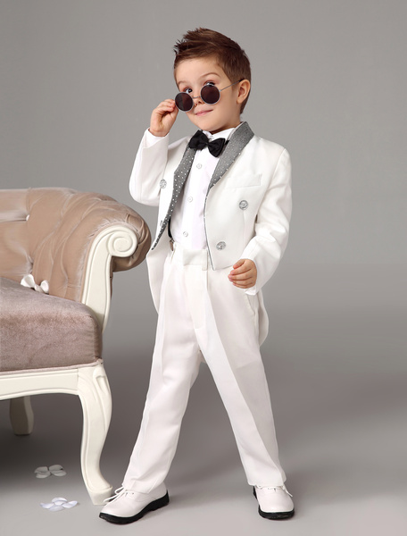 Black Kids Suits (White Shirt Included) фото