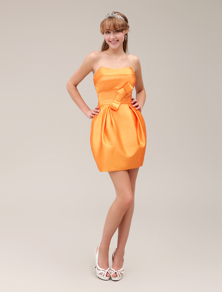 Taffeta Sweetheart High-Waisted Short Homecoming Dress with Bow фото