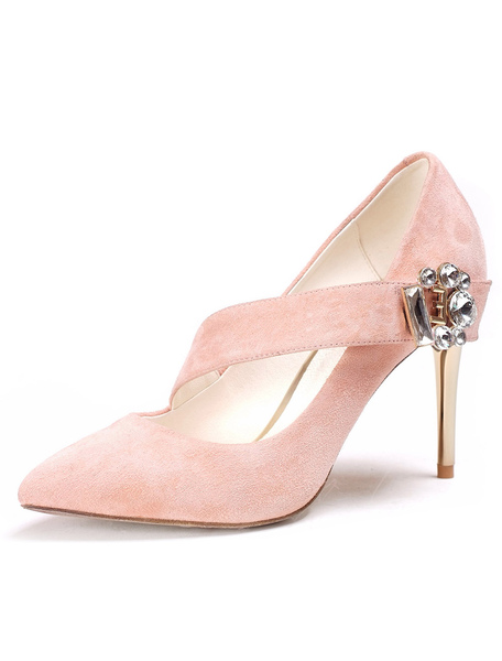 Stiletto Heel Pointy Toe Shoes With Straps фото