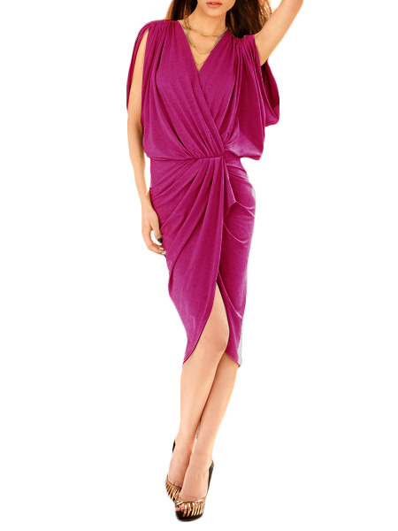 Split Maxi Dress With High Low Design фото
