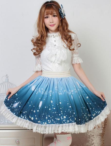 Sweet Lolita Skirt Wizard Of The Night Kawaii Lolita SK Lolita Skirt фото
