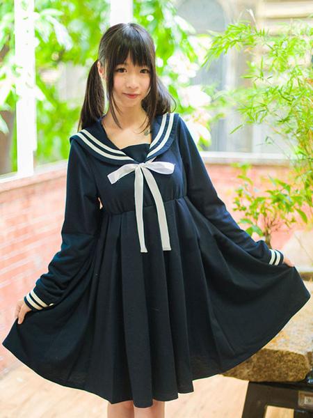 High-waisted Lolita Sailor Dress фото