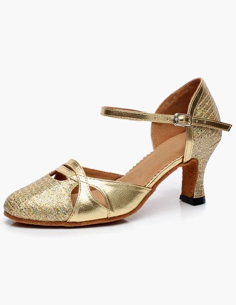 Almond Sheepskin Fashion Latin Shoes фото