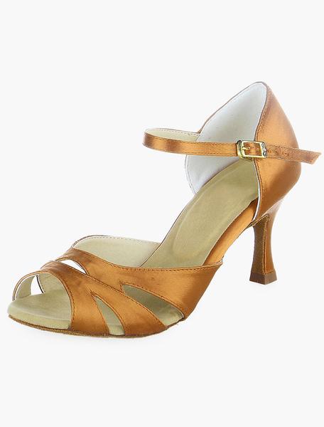 Bronze Cutout Ballroom Shoes фото
