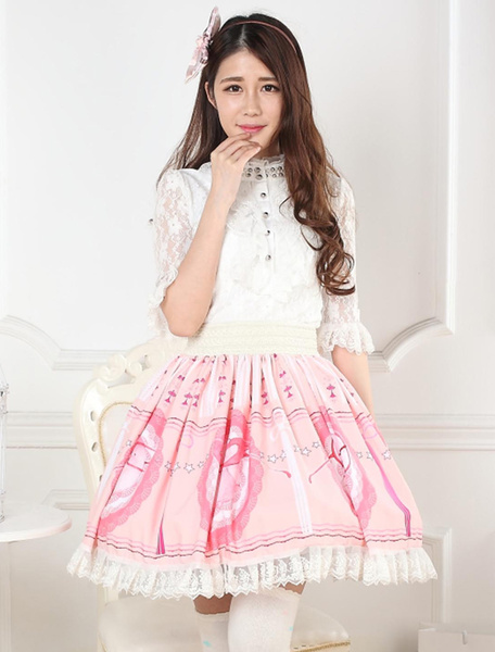 Printed Lace Lolita Skirt фото