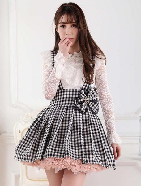 Сладкий платье Лолита СК проверить лук Лолита Подтяжк юбка