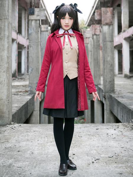 Fate Stay Night Tosaka Rin Cosplay Costume Set фото