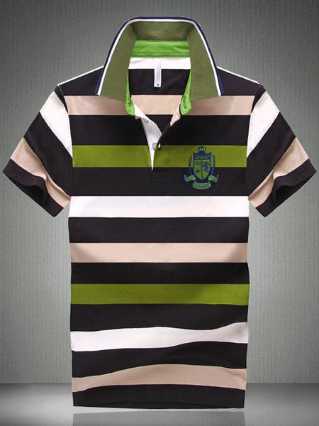 Смарт Зеленый Хлопок Короткие Рукава Рубашки Поло