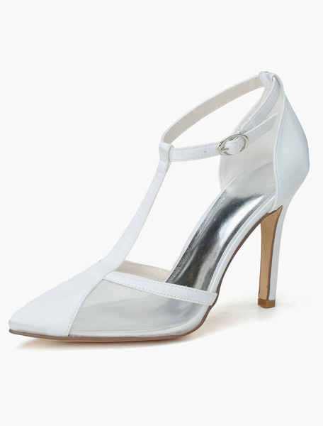 Chaussures mariage talons aigus satin