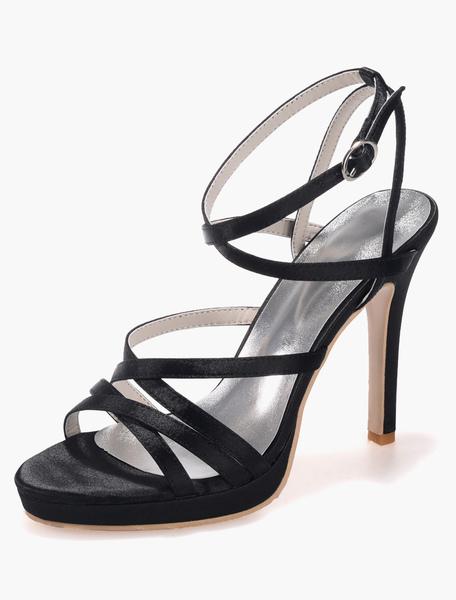 Popular Open Toe Satin Fashion Slingbacks For Women фото
