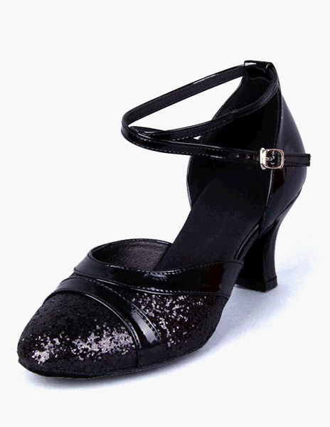 Fashion Ankle Strap Round Toe PU Leather Ballroom Shoes