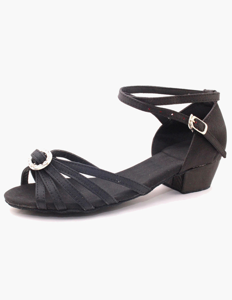 Open Toe Ankle Strap Textile Unique Ballroom Shoes