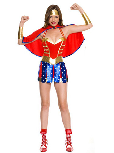 Halloween Quality Superheros Wonder Woman Costume for Girl фото