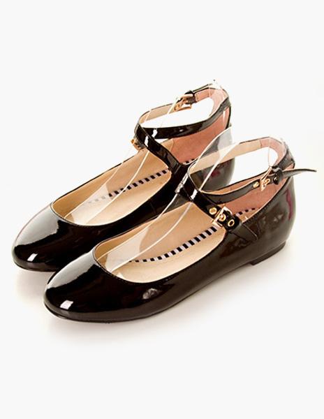 Milanoo / White Round Toe PU Leather Holiday Women's Flats