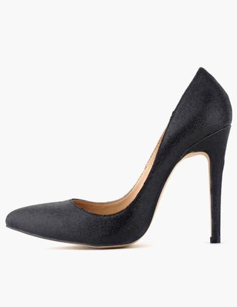 Pretty Stiletto Heel Glitter Women's Pointy Toe Heels фото