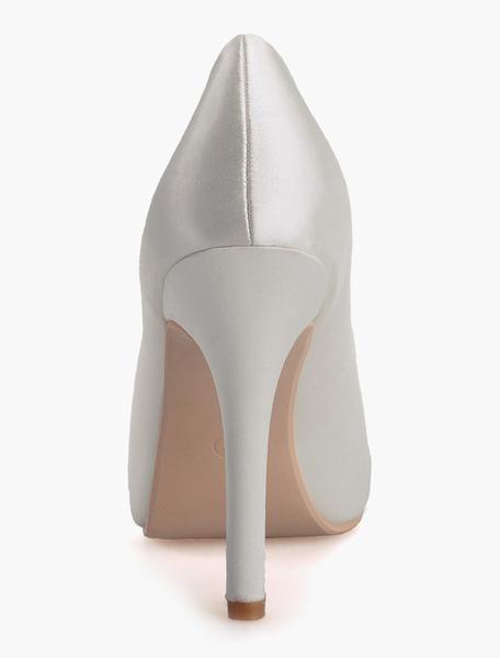 Milanoo / Elegante tacón Strass raso Peep Toe zapatos