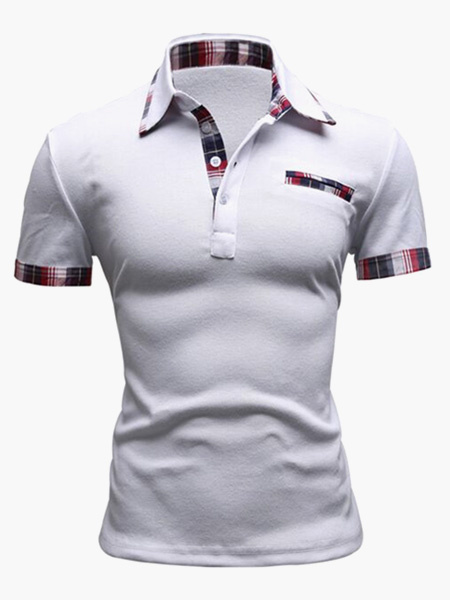 Мода Хлопок С Коротким Рукавом Мужская Рубашка Поло