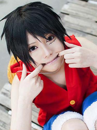 One Piece Luffy Cosplay Wig Monkey D Luffy Cosplay Wig фото