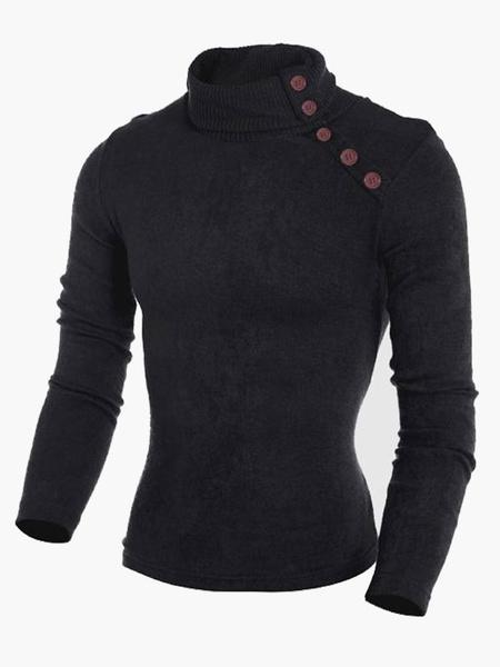 Пуловер смарт стенд воротник хлопок мужской свитер