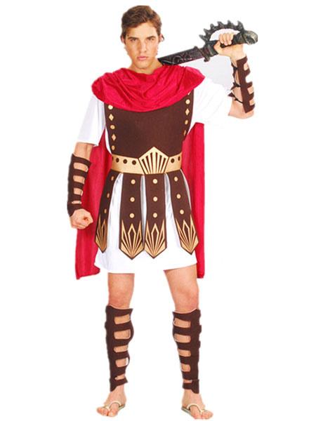 Роман Гладиатор Хэллоуин костюмы игра трона костюм коричневый мужской косплей набор