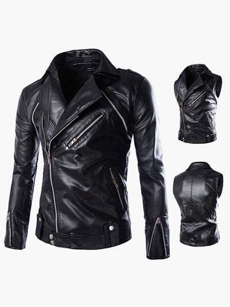 PU Leather Smart Man's Leather Jacket фото