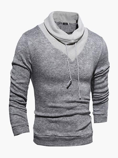 Клобук Шеи С Длинными Рукавами Свободного Покроя Пуловер