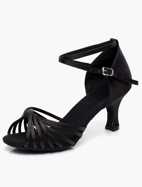 Quality Ankle Strap Open Toe Ballroom Shoes