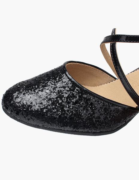 Milanoo / Almendra del dedo del pie zapatos de baile brillo