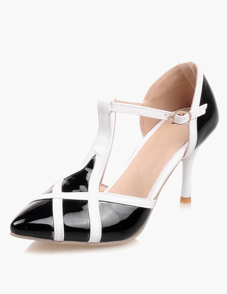 Patent PU Pointed Toe Pumps For Women фото