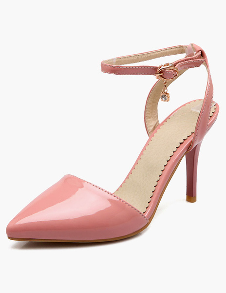 Chaussures à talons aigus fait main ornement métallique en tissu