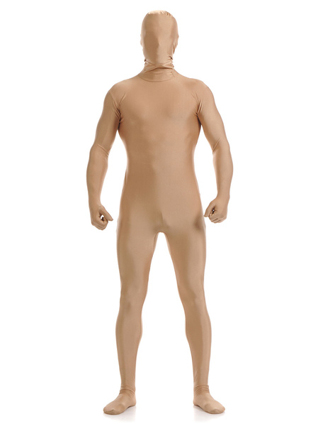 Halloween White Lycra Spandex Zentai Suit for Men Morphsuits фото