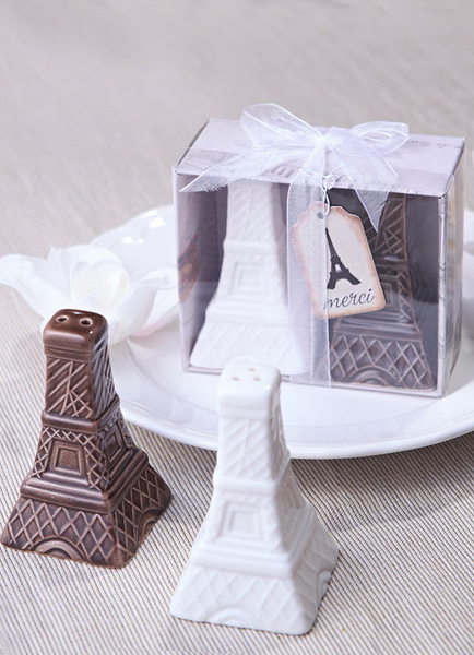 Vintage Eiffel Tower Pepperbox Wedding Favor