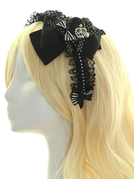 Multicolor Lace Bow Synthetic Lolita Hair Accessories фото