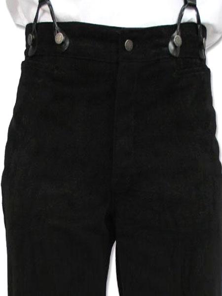 Victorian Black Cotton Pants Pageant Costumes For Men фото