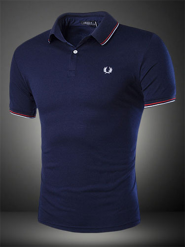 Deep Blue Daily Casual Cotton Blend T-Shirt for Men фото