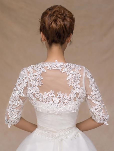 Ivory Lace Trendy Wedding Bridal Shawl