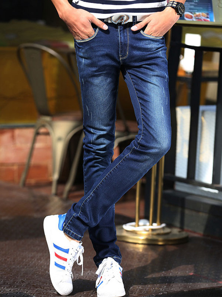 Blue Chic Shaping Denim Jeans for Men фото