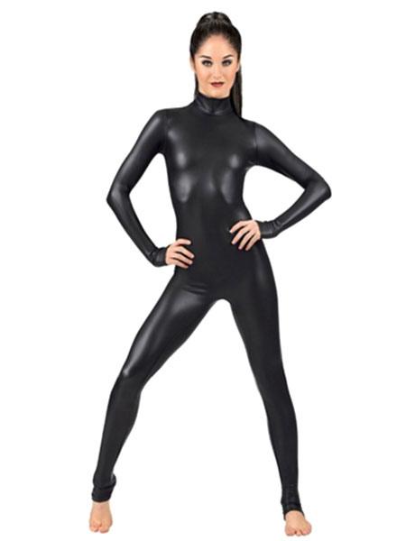Milanoo / Negro Zentai traje metálico brillante para las mujeres