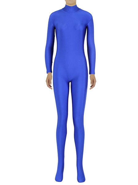 Halloween Blue Zentai Shaping Spandex Jumpsuit for Women фото