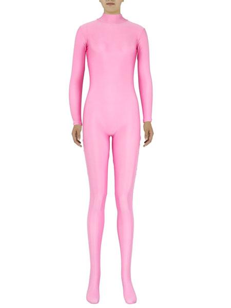 Halloween Pink Zentai Slim Fit Spandex Jumpsuit for Women фото