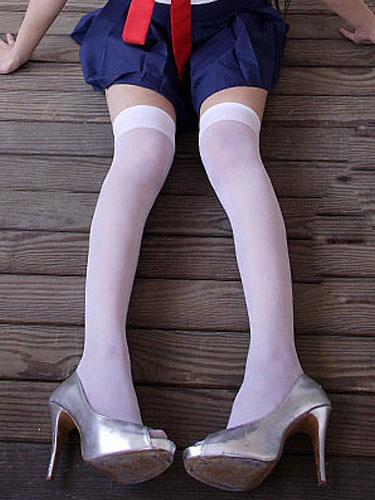 Halloween White Stockings Angel Cosplay Spandex Stockings for Women