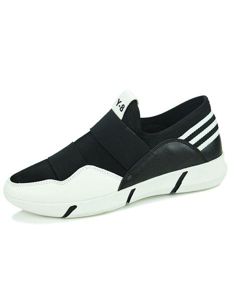 Черные кроссовки с полосками текстильные кеды для мужчин