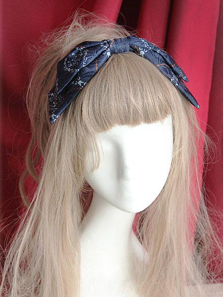 Sweet Lolita Headbow Circus Pattern фото