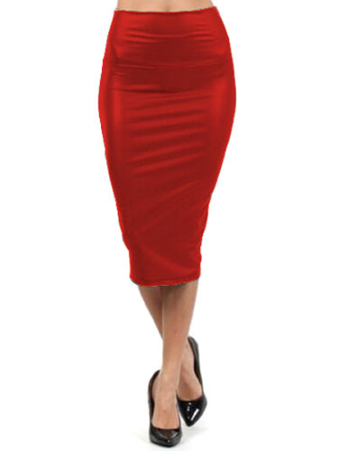 Red Spandex Chic Wrap Skirt for Women фото