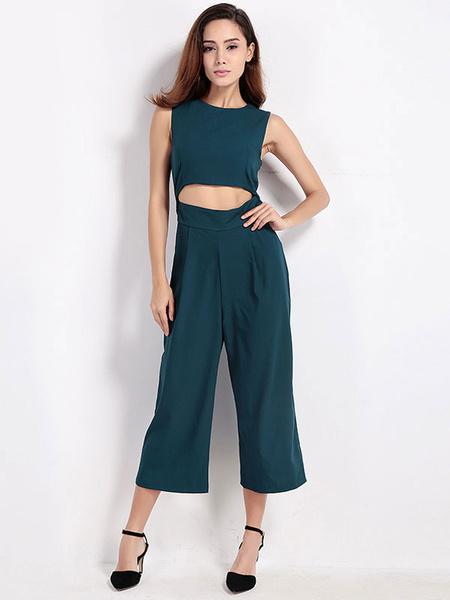 Popular Green Cutout Jumpsuit For Women фото