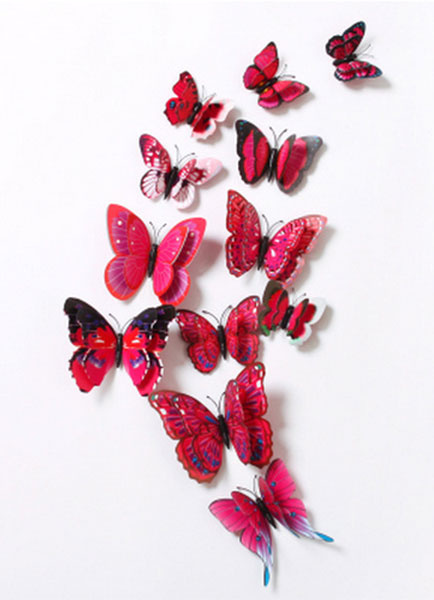 3D Wall Sticker Butterfly 12 Pieces Wedding Decoration