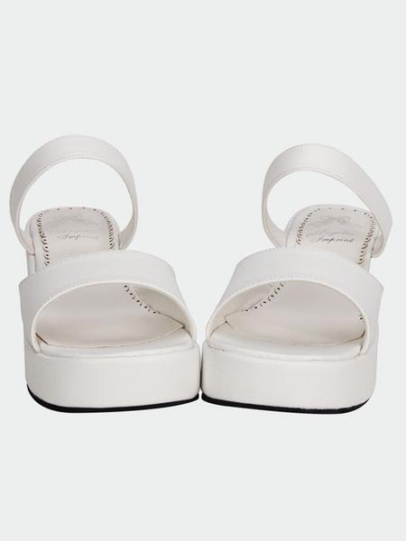 Matte White Lolita Platform Sandals Slippers фото